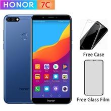 Original Honor 7C 3GB 32GB 5,99 inch Snapdragon 450 Octa Core Vorne 8,0 MP Dual Hinten Kamera 3000mAh Fingerprint