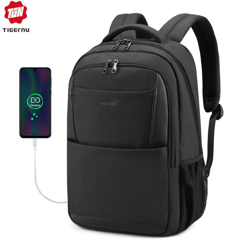 Tigernu Brand Male Mochila 15.6 Laptop Backpack Men Usb Large Travel Backpacks Slim Waterproof Anti Theft Schoolbag Women
