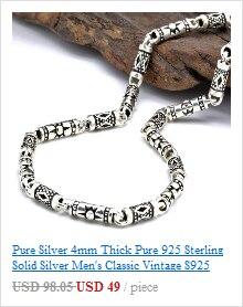 retro thai prata milho pingente colar s925