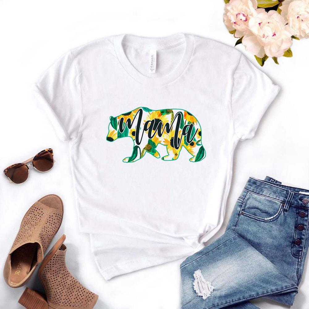 Mama bear Sunflower Print Women Tshirts Cotton Casual Funny <font><b>t</b></font> Shirt For Lady Top Tee Hipster Drop Ship NA-<font><b>515</b></font> image
