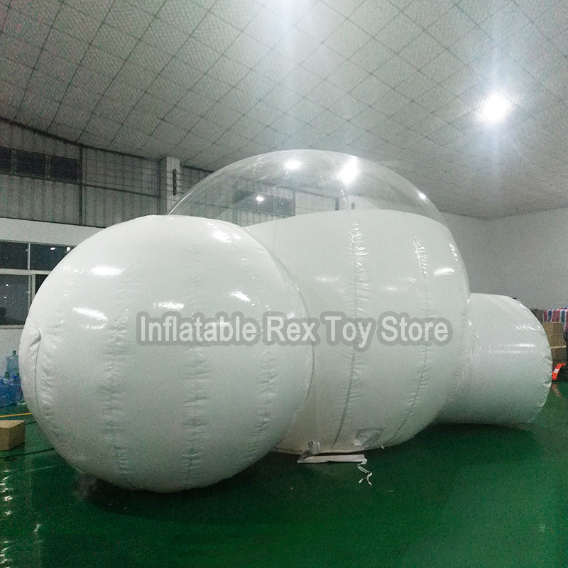 Best Selling Inflatable Bubble Tent Popular Two Rooms Bubble Tent For Outdoor 4M/5M Dia Transparent Tent House Bubble Hotel