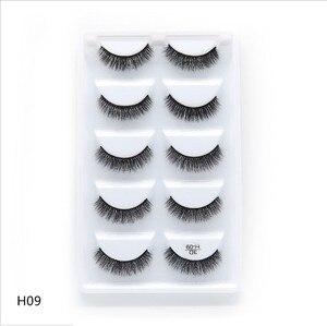 Image 4 - 250 pairs von 50 boxen Wimpern 3d nerz wimpern natürliche lange Nerz wimpern 1 cm 1,5 cm 3d falsche wimpern voller
