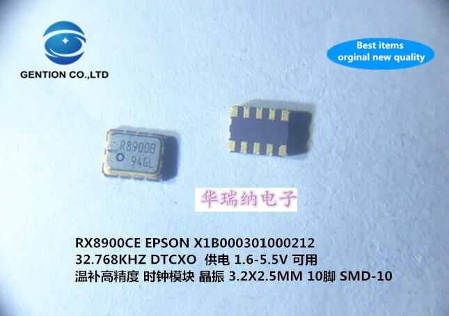 2pcs 100% New And Orginal TCXO Temperature Subsidy Chip Crystal Clock Module 3225 RX8900CE 32.768KHZ 32.768K