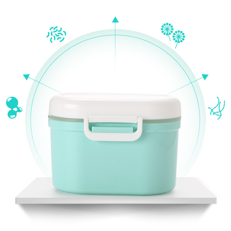 Carriable Portable Rice Flour Milk Container Packing Box Go Out Baby Nursing Three Grid Storage Sealed Jar Swivel Buckles
