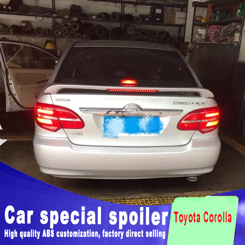 2006-2015 year Golden model brake red light For <font><b>Toyota</b></font> <font><b>Corolla</b></font> <font><b>spoiler</b></font> rear trunk wing tail <font><b>spoiler</b></font> by primer or DIY color paint image
