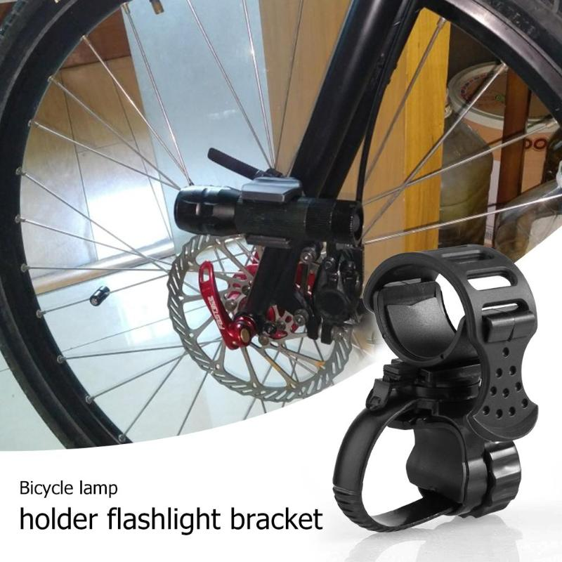 Bicycle Light Lamp Stand Holder 360 Degree Rotatable LED Flashlight Torch Clamp Mount Rotatable Mount Bracket Bike Accessories
