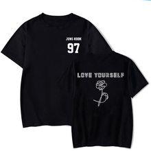 2019, Rap Monster JIN, SUGA J-HOPE JIMIN V JUNG KOOK, футболка с надписью «LOVE YOURSELF», портрет со временем, комиксная футболка, стиль K-Pop, Харадзюку, Шир