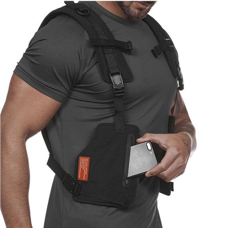 Multi-function Vest Outdoor Sports Fitness Men Protective Tops ZJ55