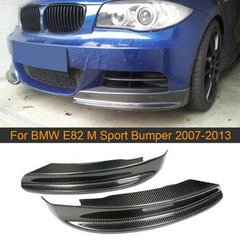 Carbon Fiber Front Bumper Splitters Lip for BMW 1 Series E82 M Sport Sedan 2007-2013 Car Front Splitters Apron Spoiler