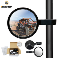 ZSDTRP Aluminum 1.75 Side Rear Rearview UTV Roll Bar Clamp Mirrors For Polaris Rangers RZR 900 XP1000 For Yamaha YXZ1000R