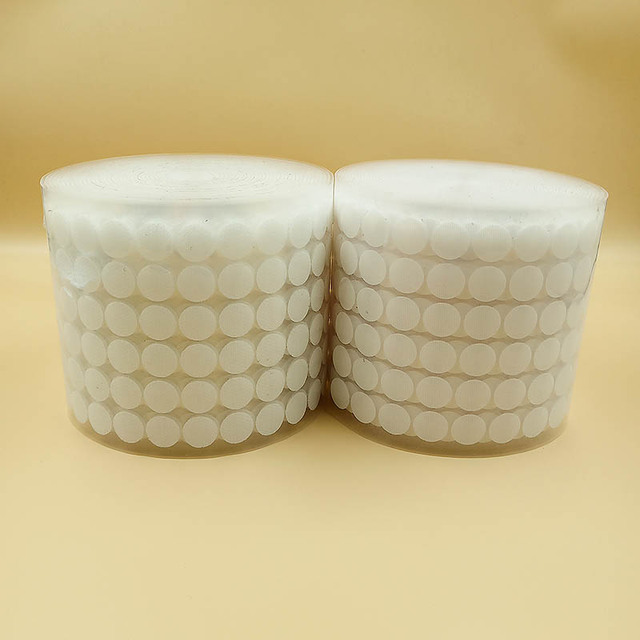 100Pairs Self Adhesive Fastener Tape10/15/20/25/30mm Strong Glue Dots Sticker Velcros White Hook and Loop Round Coins Nylon Tape