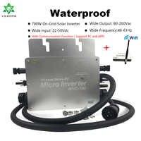 MPPT Microinverter Grid Tie Inverter 700W Pure Sine Wave Solar Micro Convertor Regulator Inversor 24/36V DC 110/220V AC Inverter
