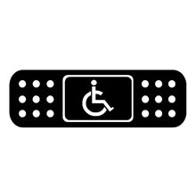 13.5*4.1CM Fun BAND AID Handicap Wheelchair JDM Car Sticker Black/White Vinyl Car Door Window Trunk Decals for LAND ROVER Nissan(China)