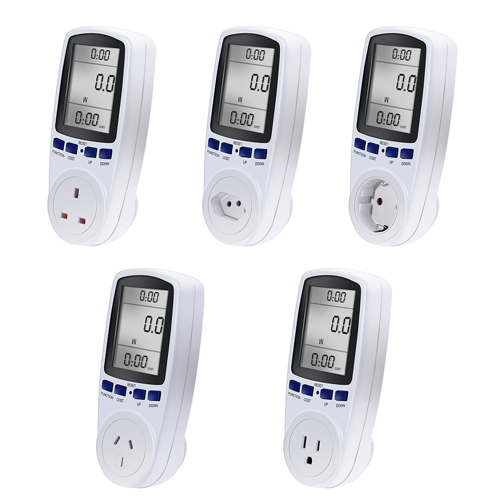Popular AU BR EU Plug Automatic Kwh Power Switch Digital Voltage Wattmeter Power Analyzer Electronic Power Meter Energy Meter