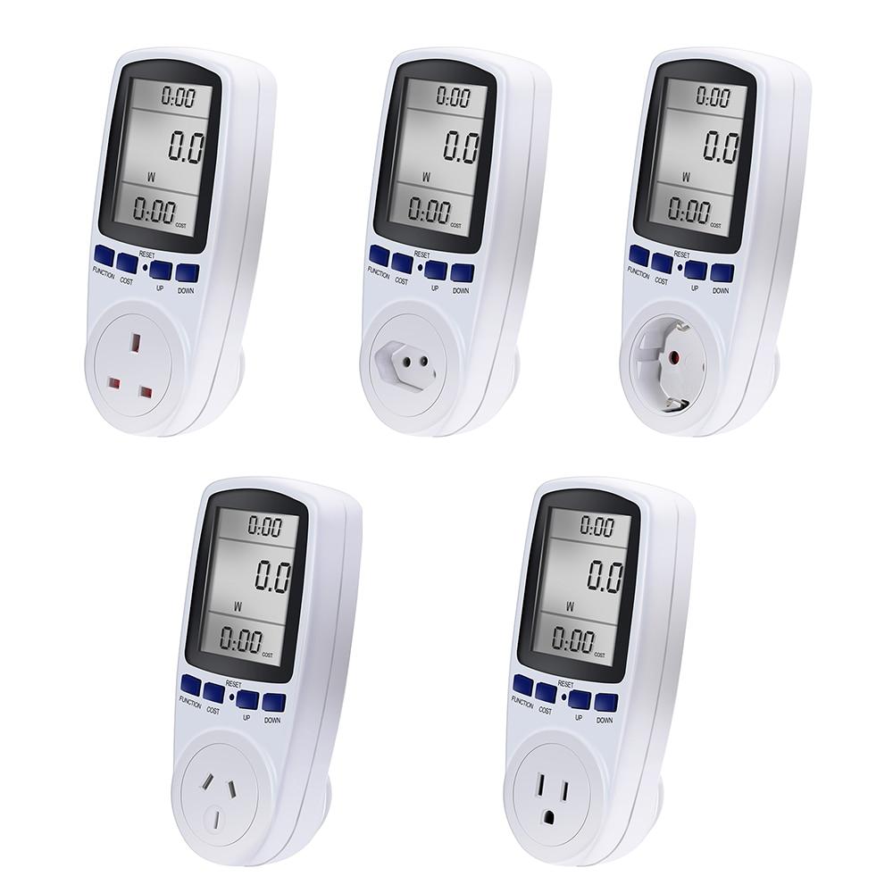 Popular AU BR EU Plug Automatic Kwh Power Switch Digital Voltage Wattmeter Power Analyzer Electronic Power Meter Energy Meter