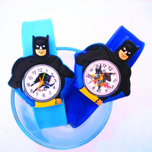 New Cartoon Batman Toys Slap Watch Child Sports Quartz Wristwatches Digital Chil