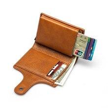 Metal Wallet Credit-Card-Holder Rfid Blocking Purse Aluminium-Box Fashion-Card Women