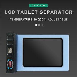 BST-928A 350w tela lcd reparação separador de aquecimento para tablet ipad iphone tela separação parafuso colocação buraco silicone macio