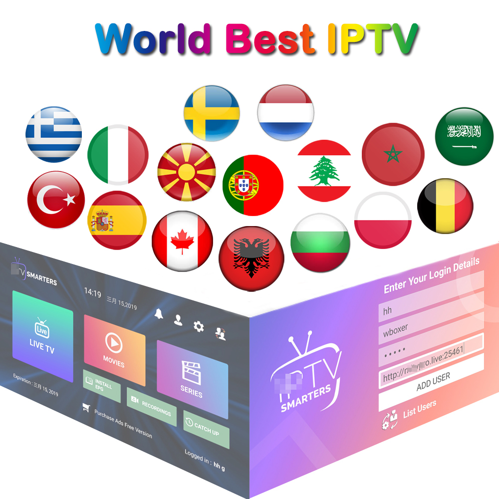 World Stable IPTV Subscription M3U 1 Month Poland Netherland Arabic Italy Sweden Germany IPTV Albania Greece IP TV Adult Xxx