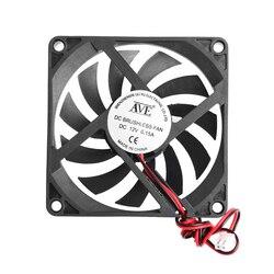12V 2-Pin 80x80x10mm komputer stancjonarny System CPU radiator bezszczotkowy wentylator chłodzący 8010 27RB