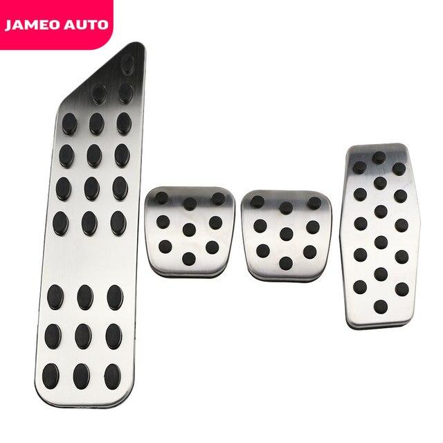 Jameo 自動ステンレス鋼車のペダルパッドペダルシボレークルーズ trax オペル mokka ためマリブ 2013 2018 アストラ j 記章