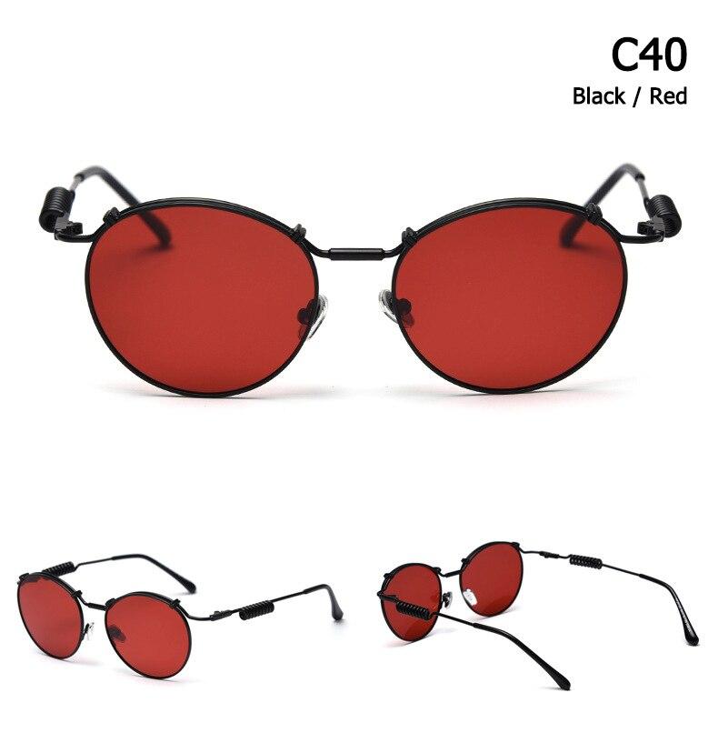 Jackjad vintage redondo estilo steampunk polarizado óculos