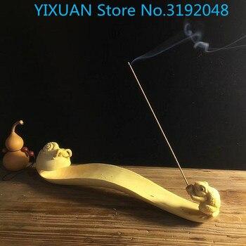 ¡Accesorios decorative de tallado de madera para el hogar adornos de incienso Zen Caracol Ruyi!