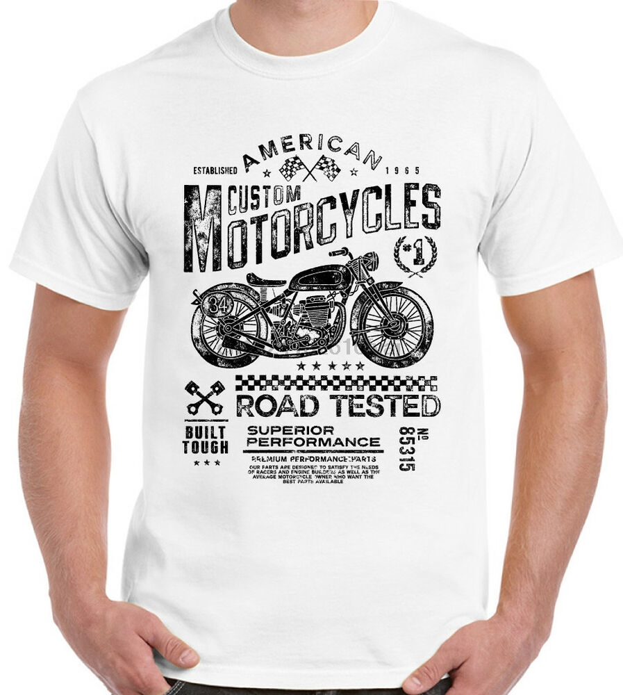 Motorcycle /& Sidecar Mens Funny Biker T-Shirt 3 Wheels Motorbike Bike Indian Top
