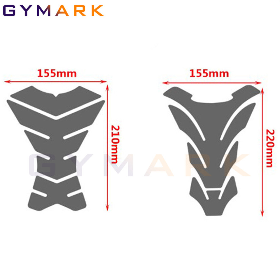 Impermeabile Caso 3D Carbon Look Moto Sticker Gas Fuel Oil rilievo del carro armato della decalcomania della protezione for Yamaha R6 600 YZF-R6 1998-2018 serbatoio decorazione Protector