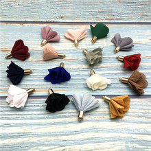 100pcs/bulk Vintage Cloth Flower Tassels Charms for Jewelry Making Earrimgs Pompoms  Pendants