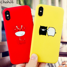 Funny Cute Animal Mobile Phone Cases for iPhone 6 s 7 8 11 Plus Pro X XS MAX XR Case Pig Soft Silicone Back Covers Accessories
