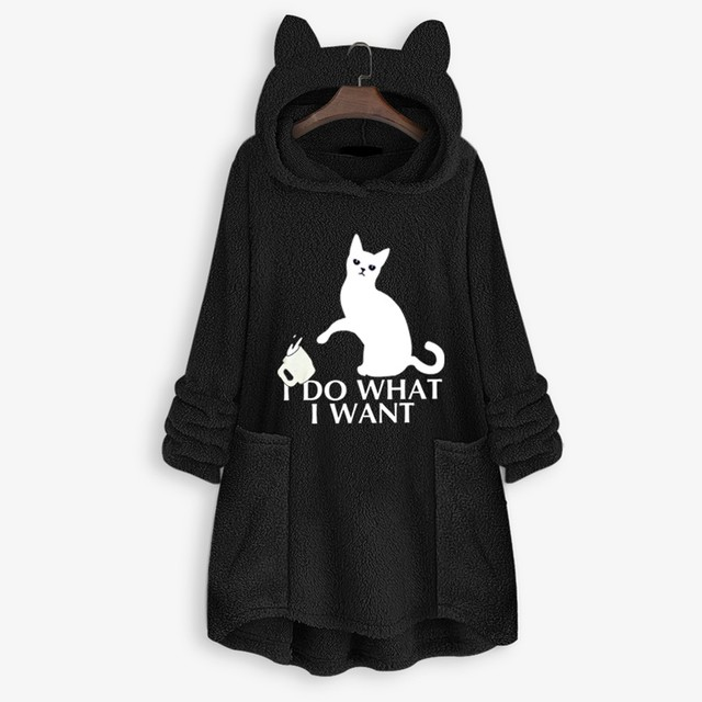OVERSIZE HOODIE WITH CAT EARS