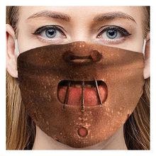 1pc drôle Expression impression Masque visage adulte unisexe fête masques lavable réutilisable tissu bouche moufle anti-poussière visage bouclier Masque