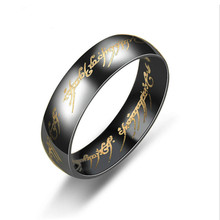 jingyang Stainless steel Lord Of The Rings lovers Women Men ring fashion jewelry wholesale men gift