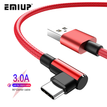 90 Degree Micro USB Cable Fast Charging Charger Mobile