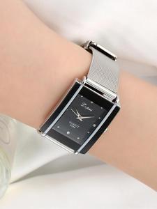 Lvpai Bracelet Watch Square Silver Women Luxury Fashion Men Alloy