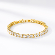 Mens Zircon Tennis Chains Bracelet Men Gold Silver Iced Out 1 Row CZ Chain Hip Hop BFF 4mm 5mm Pulseira Hombre Jewelry