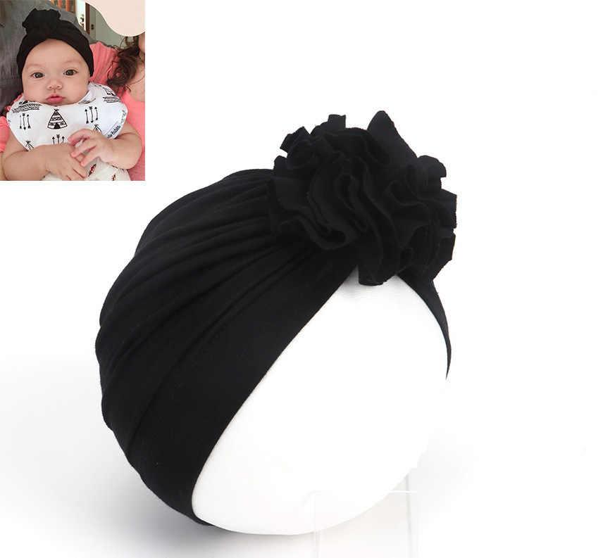 2019 fleur fille bandeau nouveau-né infantile enfant en bas âge enfant bébé fille Turban Bowknot doux coton Beanie chapeau chapeau accessoires Photo