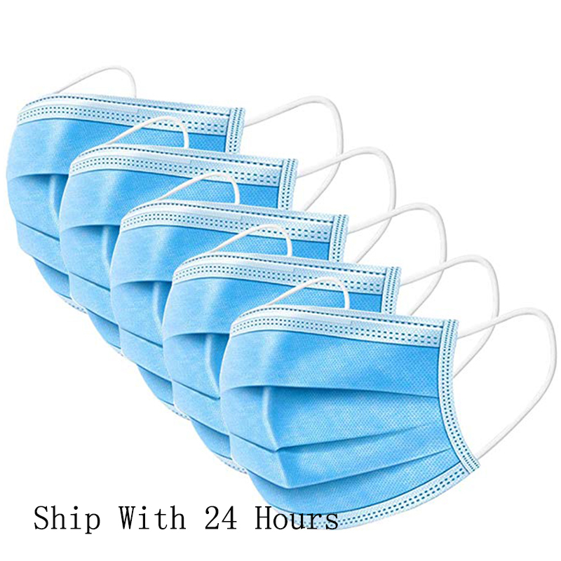5/10 Pcs Non Woven Disposable Face Mask 3 Layer Disposable Face Masks Dust Filter Elastic Facial Dust-Proof Safety Masks