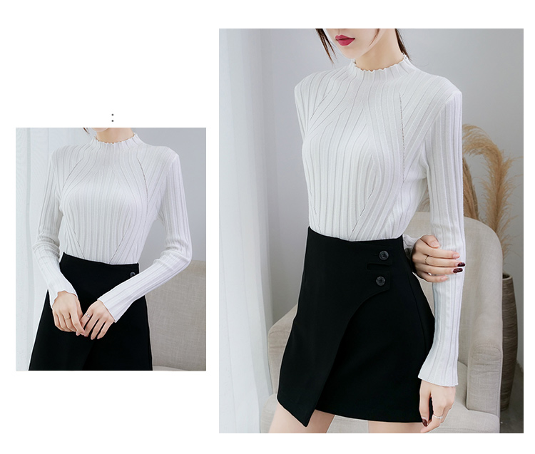 Sweaters fashion 19 women sweaters ladies winter clothes women knit solid black long sleeve tops sueter mujer Pullovers 0364 25