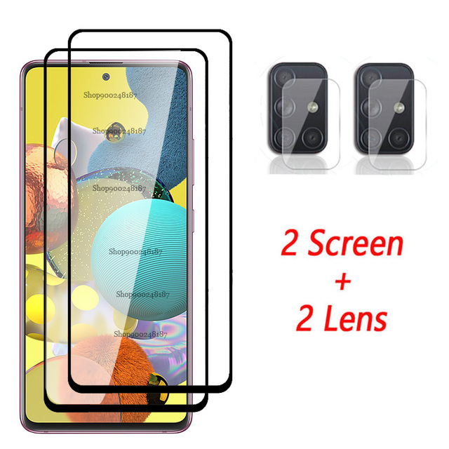 4 In 1 Camera Glass for Samsung Galaxy A51 5G Screen Protector Tempered Glass Samsun A71 A 71 51 A515F A715F Protective Film 2