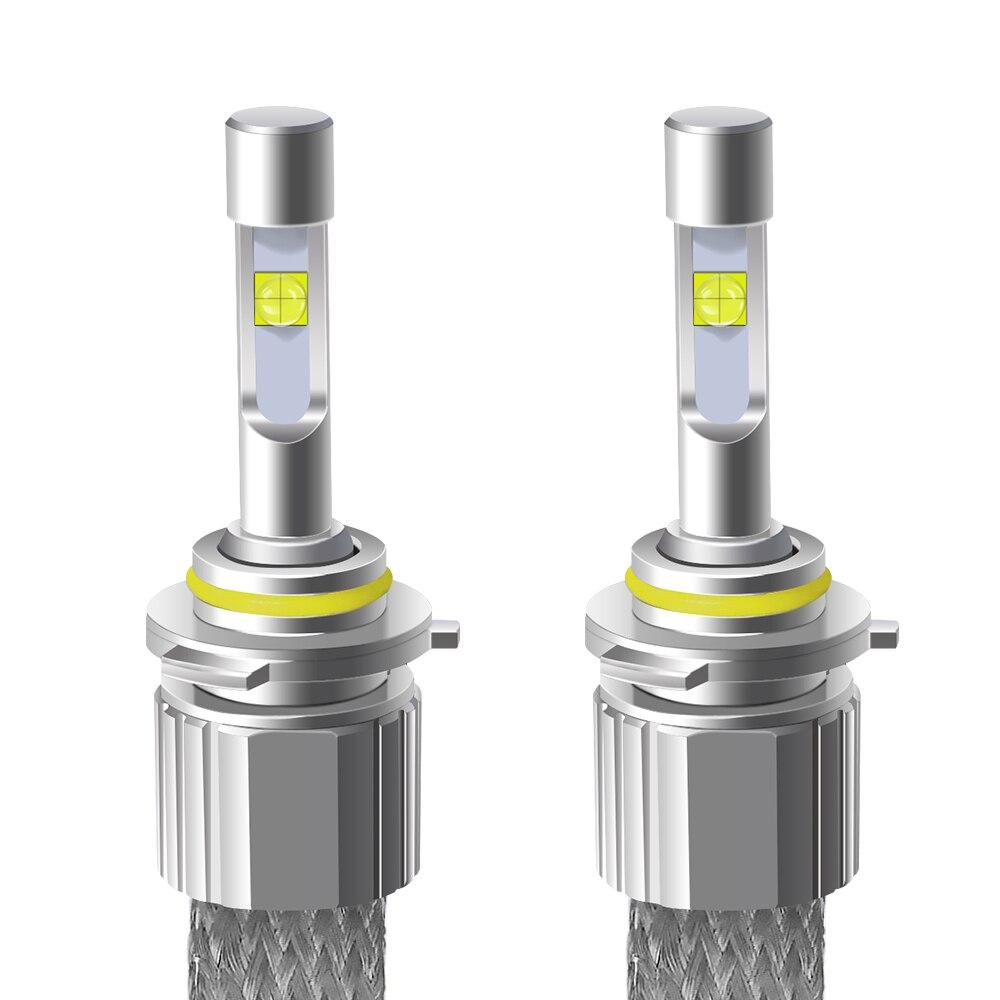 H4 H7 voiture LED phares 4300k avec lentille XHP50 Corey lampe ampoule H1 H3 H8 H9 H11 9005 9006 dissipation thermique super lumineux voiture lumière