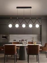 Czarny lub złoty żyrandol LED jadalnia kawiarnia nowoczesny długi lampa wisząca kreatywna restauracja/Bar wielogłowicowa wisząca lampa