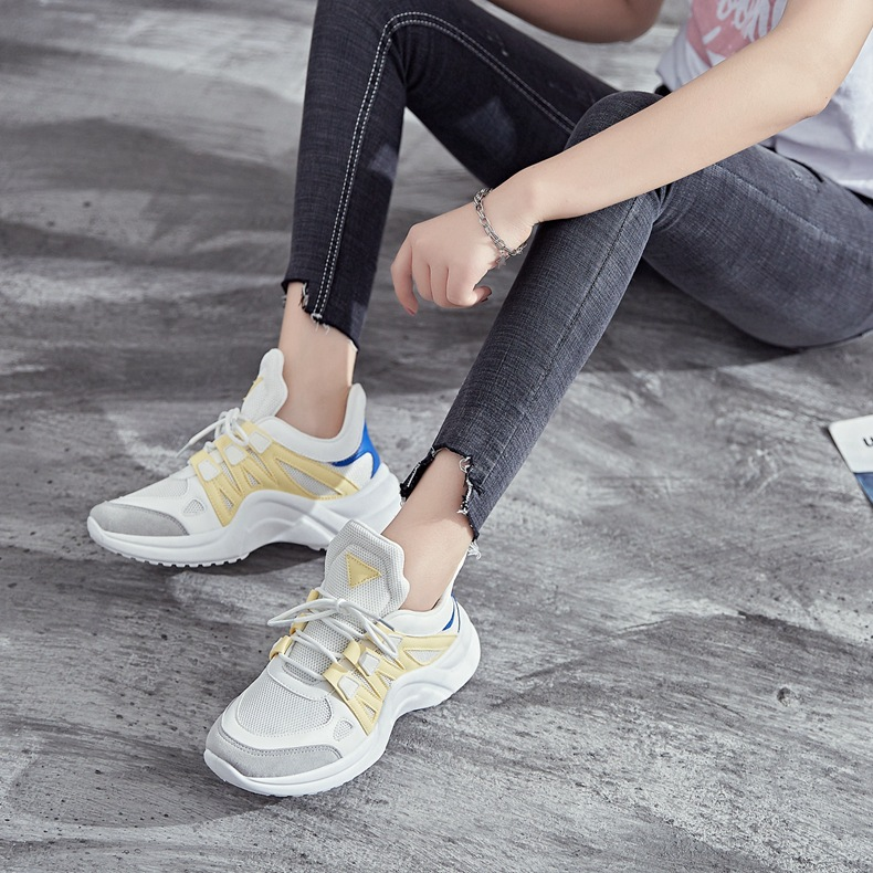 Hf35097f8750c4033b52918d41c058f87A - Fujin Sneakers Women Breathable Mesh Casual Shoes Female Fashion Sneaker Lace Up High Leisure Women Vulcanize Shoe Platform