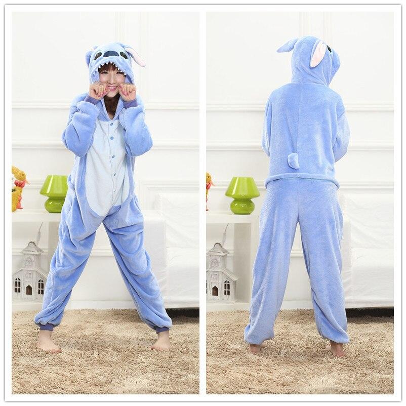 Animal Stitch Onesie Adult Teenagers Women Pijama Kigurumi Pajamas Funny Flannel Warm Soft Overall Onepiece Night Home Jumpsuit