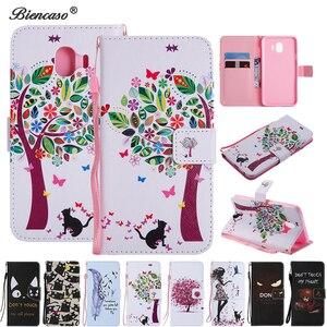 Кожаный чехол-книжка с бумажником для Samsung Galaxy J330 J530 J320 J1 J3 J5 J4 J6 Plus J8 J7 Duo J2 Core A20 A30 A50 A50S A30S