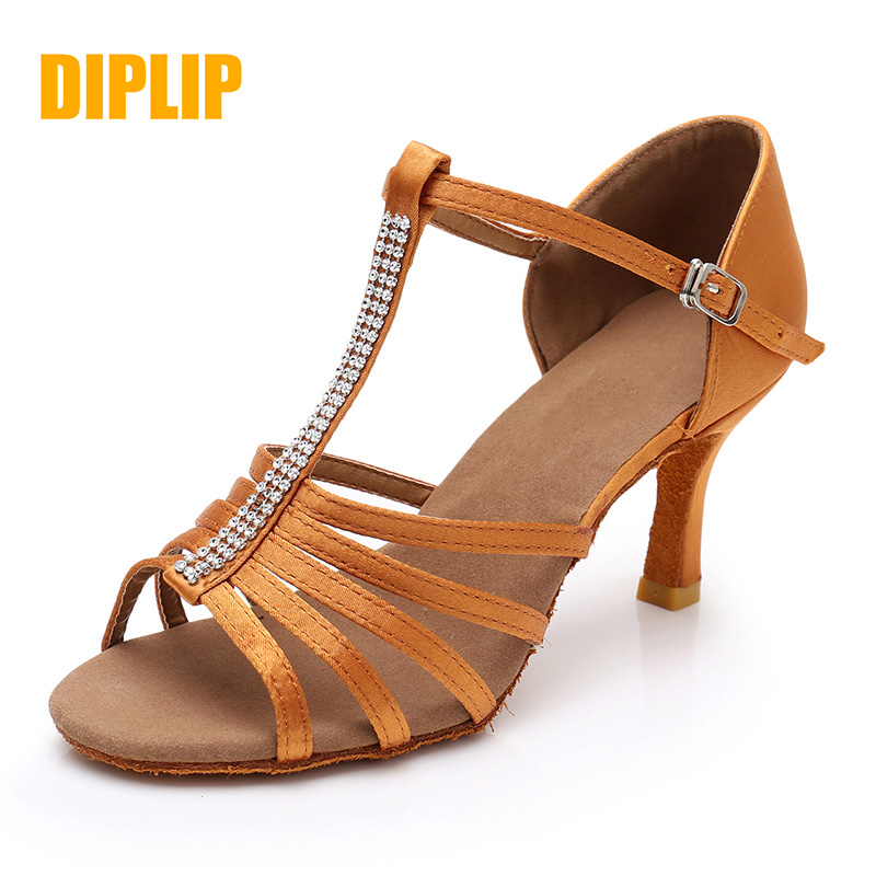 DIPLIP Brand New Women's Dance Shoes Heeled Tango Ballroom Latin Salsa Dancing Shoes For Women Hot Sales Soft Bottom Dance Shoes