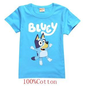 Bingo bluey платье принцессы с принтом; Футболка для девочек с рисунком bluey, повседневная детская одежда, новая летняя футболка для малышей 100% хлопок|Тройники|   | АлиЭкспресс