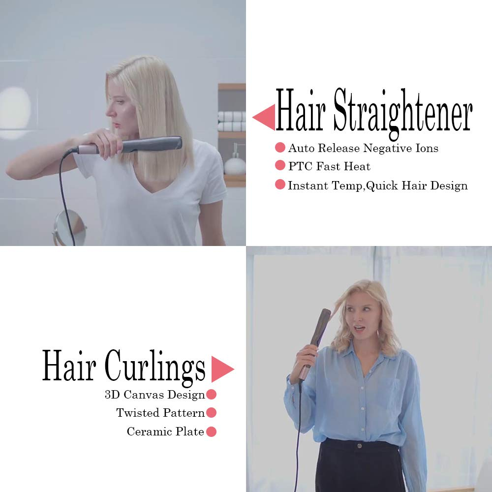 2 em 1 torção do cabelo curling