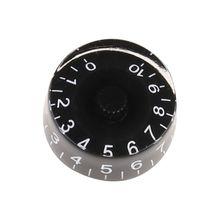 1 шт. Ручка кнопка громкость тон управление для LP электрическая гитара бас детали черный белый цифры